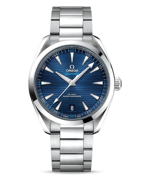 Đồng hồ mặt số màu xanh ảnh 2