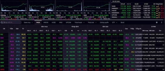 Sắc xanh bao phủ thị trường chứng khoán