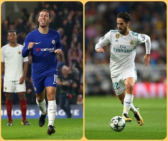 Eden Hazard (Chelsea) và Isco (Real Madrid)