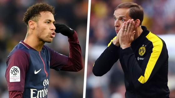 Neymar và Thomas Tuchel.