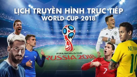 LỊCH TRUYỀN HÌNH TRỰC TIẾP WORLD CUP 2018 - ĐÀI VTV