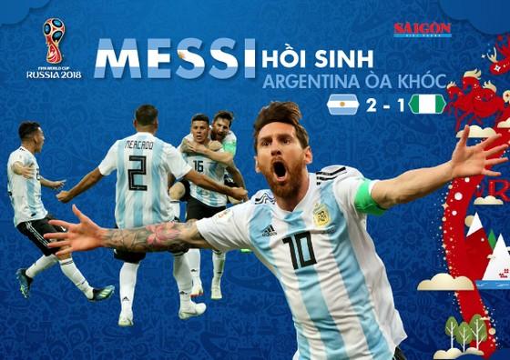 Quà tặng bạn đọc: Messi hồi sinh, Argentina òa khóc - Poster World Cup 2018 khổ lớn, download về nhà