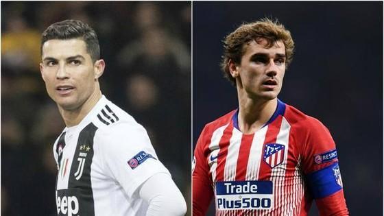 Cristiano Ronaldo (Juventus) và Antoine Griezmann (Atletico)