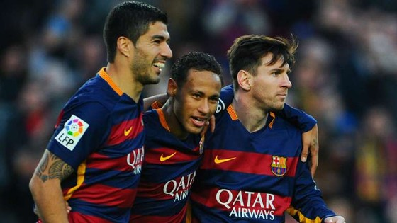 Bộ ba MSN (Messi, Suarez và Neymar)