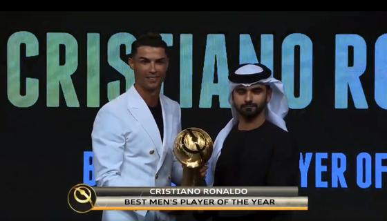 Cristiano Ronaldo đoạt giải thưởng Bóng đá địa cầu 2019 ở Dubai ảnh 1