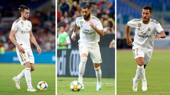 Gareth Bale, Karim Benzema và Eden Hazard