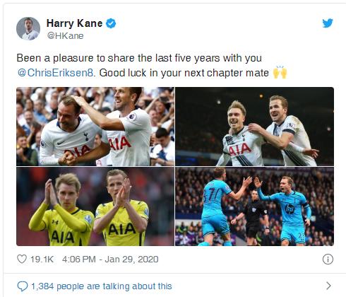 Xúc động khi đọc thư chia tay người hâm mộ Tottenham của Christian Eriksen  ảnh 1