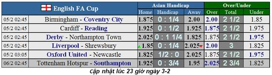 Lịch thi đấu cúp FA ngày 5-2: Liverpool tiếp Shrewsbury, Tottenham tái đấu Sheffield (Mới cập nhật) ảnh 2