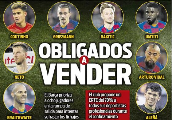 Các ngôi sao từ chối giảm 70% lương, Barca đòi thanh lý môn hộ: Bán 8 cầu thủ trong mùa hè ảnh 1