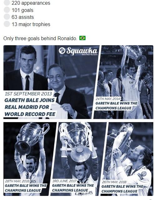 Gareth Bale bị xem thường dù có nhiều danh hiệu hơn Zidane, Ronaldo và Figo ảnh 1