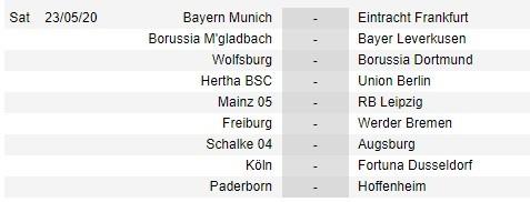 Bundesliga công bố lịch thi đấu 9 vòng cuối cùng ảnh 3