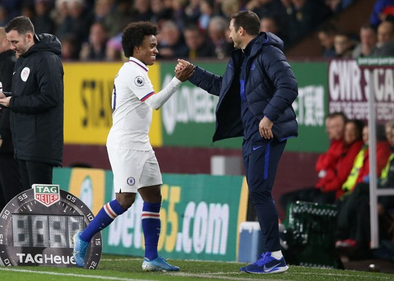 Willian và Frank Lampard