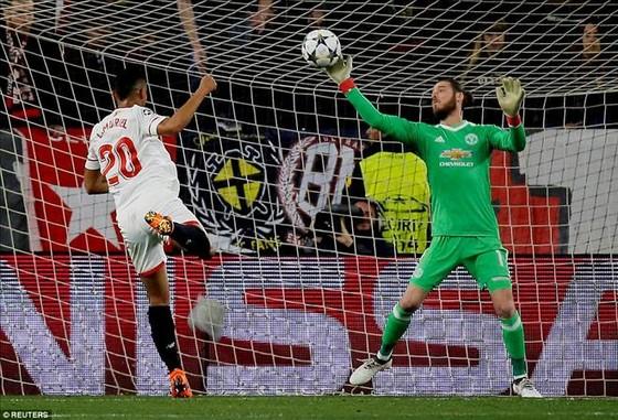 David De Gea từng khiến các tiền d89a5om Seville nản lòng ở Champions League 2018