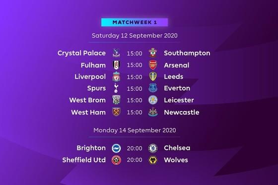Công bố lịch thi đấu Premier League 2020-2021: Liverpool tiếp Leeds ngày khai mạc, Arsenal đụng độ Fulham ảnh 1