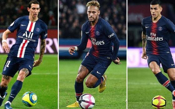 Neymar, Angel Di Maria và Leandro Paredes đều đang bị cách ly.