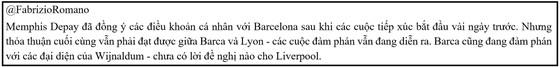 Memphis Depay tìm thấy thỏa thuận với Barcelona để về với ông thầy Koeman  ảnh 1