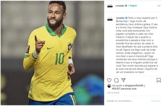 Ronaldo Nazario ngợi ca Neymar phá vỡ kỷ lục ghi bàn: Bầu trời là giới hạn! ảnh 2