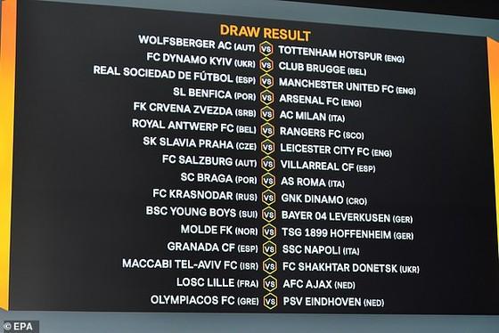 Bốc thăm vòng 32 đội Europa League: Man United đụng Real Sociedad, Arsenal gặp Benfica ảnh 2