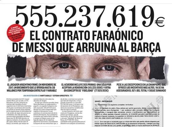 Bản tin chấn động Barcelona của tờ El Mundo