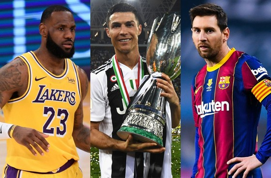 LeBron James, Ronaldo và Messi