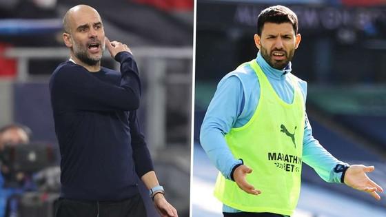 Pep Guardiola và Sergio Aguero