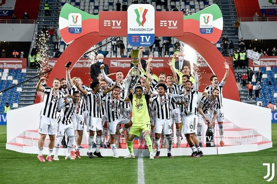 Juventus đăng quang Cúp Italia