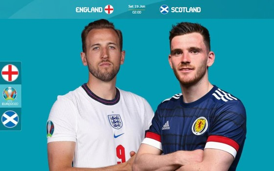 Harry Kane (Anh) và Robertson (Scotland)