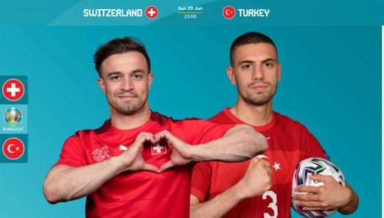 Shaqiri  (Thụy Sĩ) và Demiral (Thổ Nhĩ Kỳ)