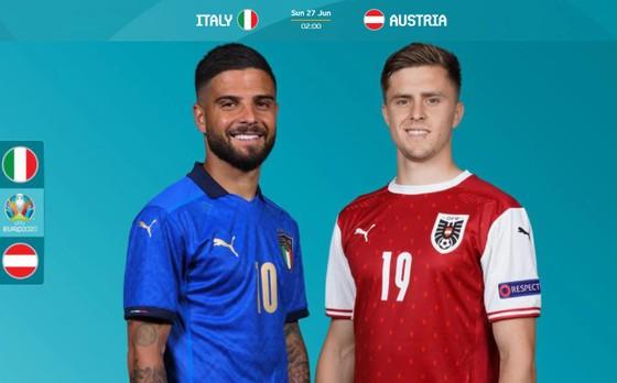 Vòng 1/8, Italia – Áo: Azzurri tiếp tục mạch thắng