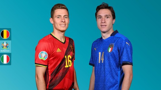 Thorgen Hazard và Enrico Chiesa