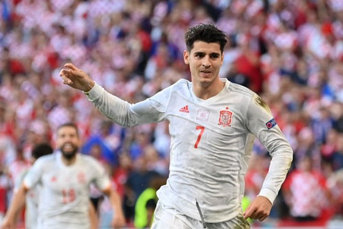 Alvaro Morata gây thất vông ở Euro