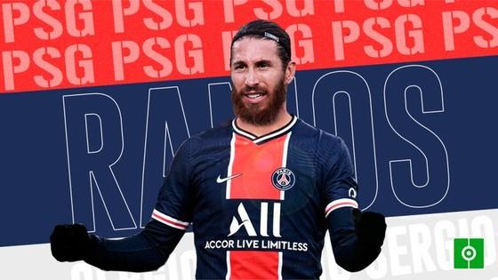 Sergio Ramos trình làng màu áo mới