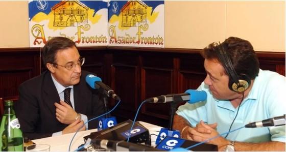 Chủ tịch Florentino Perez và nhà báo  Jose Antonio Abellan