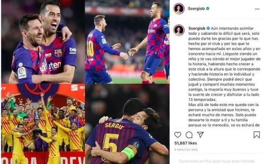Sergio Busquets viết lời chia tay người bạn thâm niên Leo Messi ảnh 1