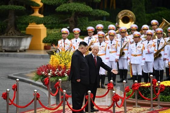Lễ đón chính thức Chủ tịch Triều Tiên Kim Jong-un ảnh 5