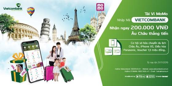 Cùng Vietcombank mở Ví MoMo: trúng thưởng du lịch Châu Âu ảnh 1