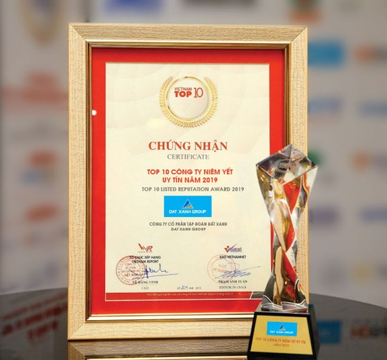 Đất Xanh đạt giải Top 10 công ty niêm yết uy tín năm 2019 ảnh 3