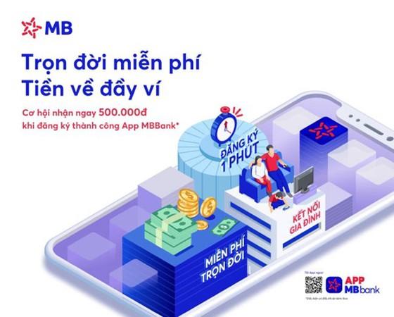 Miễn phí giao dịch online cùng MBBank ảnh 1