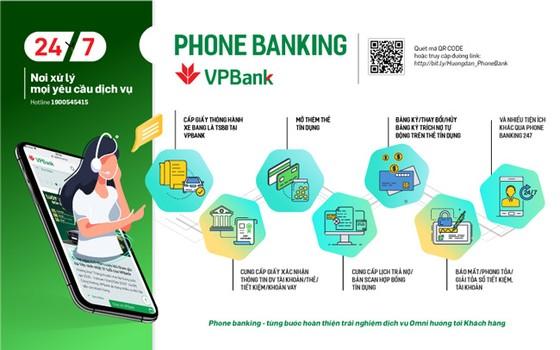 Trải nghiệm dịch vụ Phone Banking 247 của VPBank ảnh 1