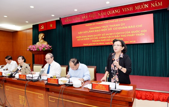 Phát huy vai trò của báo chí trong việc thực hiện cơ chế, chính sách đặc thù phát triển TPHCM ảnh 1