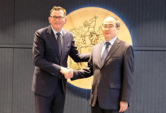 Bí thư Thành ủy Nguyễn Thiện Nhân hội kiến Thủ tướng Australia Scott Morrison ảnh 4