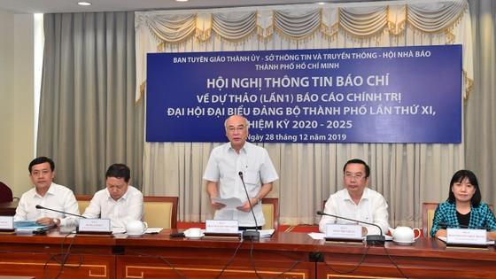 Công bố dự thảo báo cáo chính trị Đại hội đại biểu Đảng bộ TPHCM lần thứ XI ảnh 2