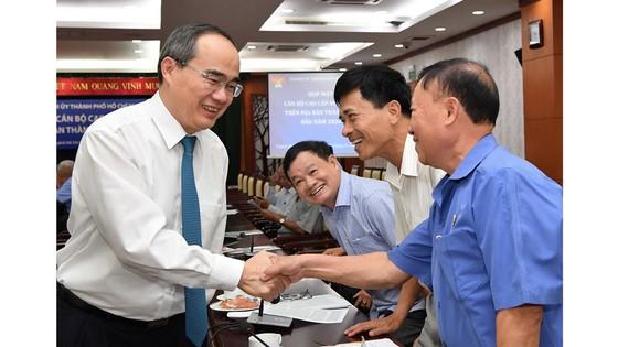 Bí thư Thành ủy TPHCM Nguyễn Thiện Nhân họp mặt cán bộ cao cấp nghỉ hưu ảnh 1