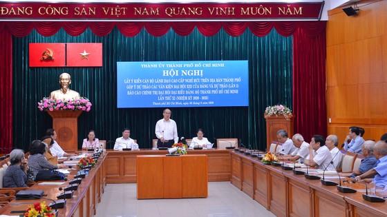 Cán bộ cao cấp nghỉ hưu trên địa bàn TPHCM góp ý văn kiện Đại hội Đảng ảnh 5