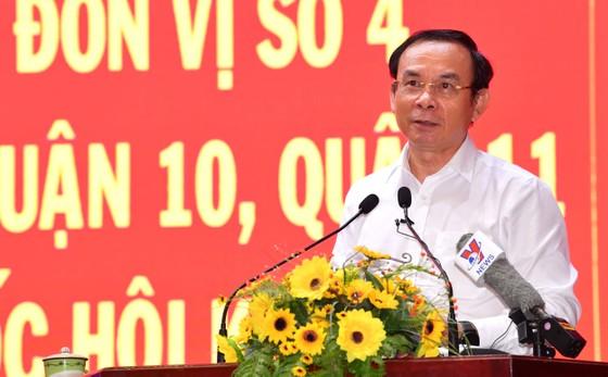 Bí thư Thành ủy TPHCM Nguyễn Văn Nên tiếp xúc cử tri ảnh 3