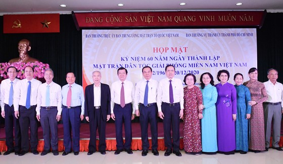 Họp mặt truyền thống kỷ niệm 60 năm Ngày thành lập Mặt trận Dân tộc giải phóng miền Nam Việt Nam ảnh 1