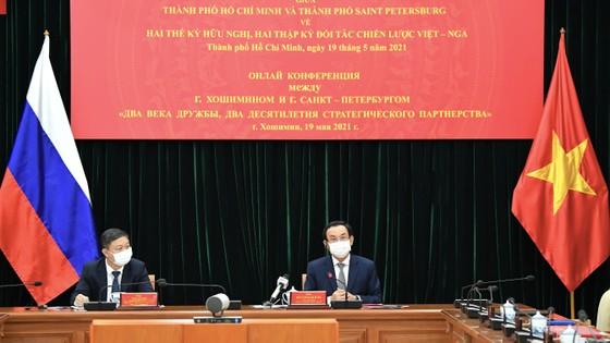 Bí thư Thành ủy TPHCM Nguyễn Văn Nên họp trực tuyến với Thống đốc thành phố Saint Petersburg ảnh 3