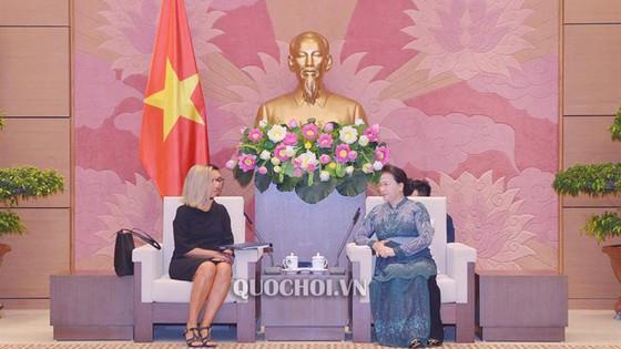 Chủ tịch Quốc hội Nguyễn Thị Kim Ngân tiếp Phó Chủ tịch Ủy ban châu Âu ảnh 2
