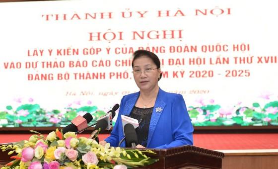 Đảng đoàn Quốc hội cho ý kiến vào Dự thảo Báo cáo chính trị của Đảng bộ TP Hà Nội ảnh 3