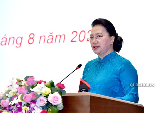 Chủ tịch Quốc hội Nguyễn Thị Kim Ngân tham dự Lễ trao Huân chương Lao động cho lãnh đạo Quốc hội ảnh 4
